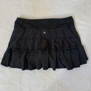Lululemon Pleated Black Skirt